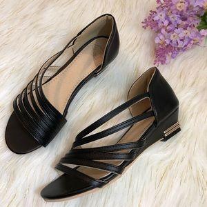 Galo Regalo Black Low Heel Strappy Sandals